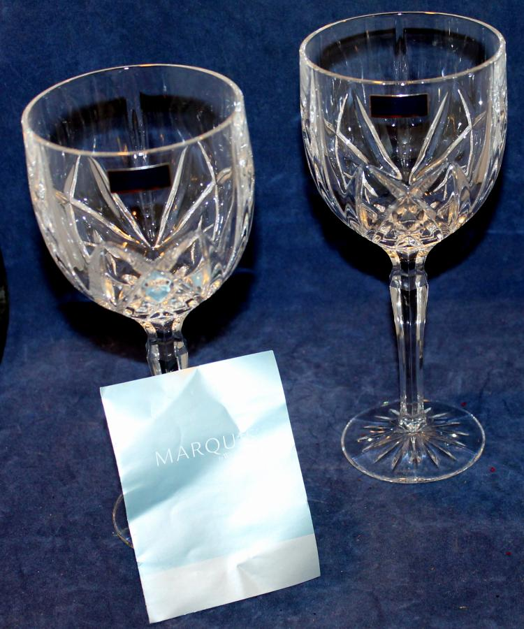 Set Of 2 Waterford Marquis Wine Glasses