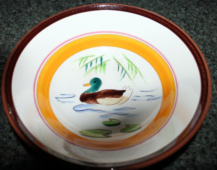 Stangl Pottery 9 Inch Serving Bowl Country Life Ducks