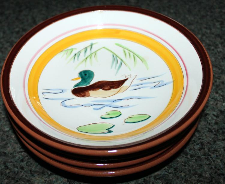 Set Of 4 Stangl Pottery 7 1/2 Inch Soup Bowls Country Life Ducks