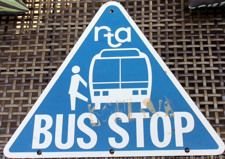 RTA 2 sided Triangle Bus Stop Sign c1970's