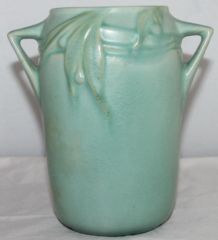 """Roseville Pottery Velmoss II Vase #714-6"""" USA"""