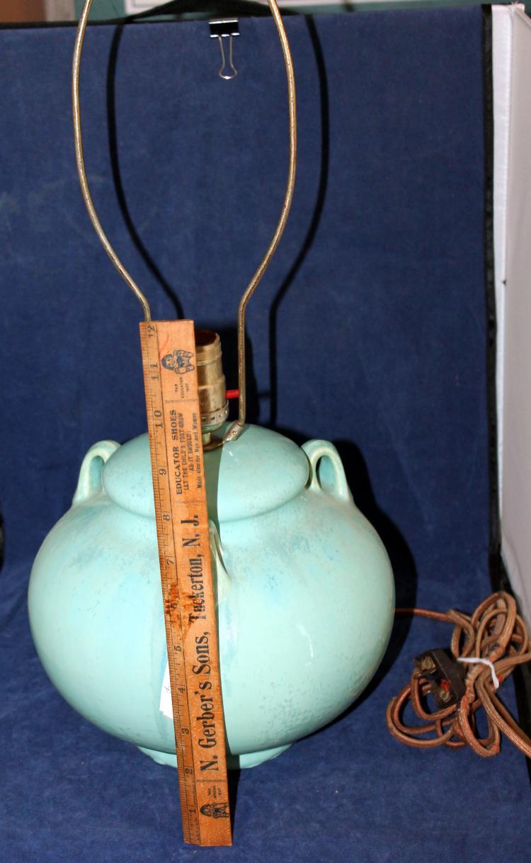 Beautiful Fulper Pottery Lamp Blue
