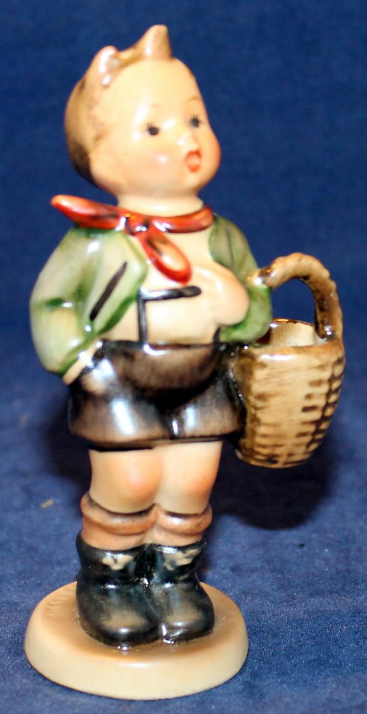1950 M.I. Hummel Village Boy Figurine HUM #51 3/0  Four  Inches Tall
