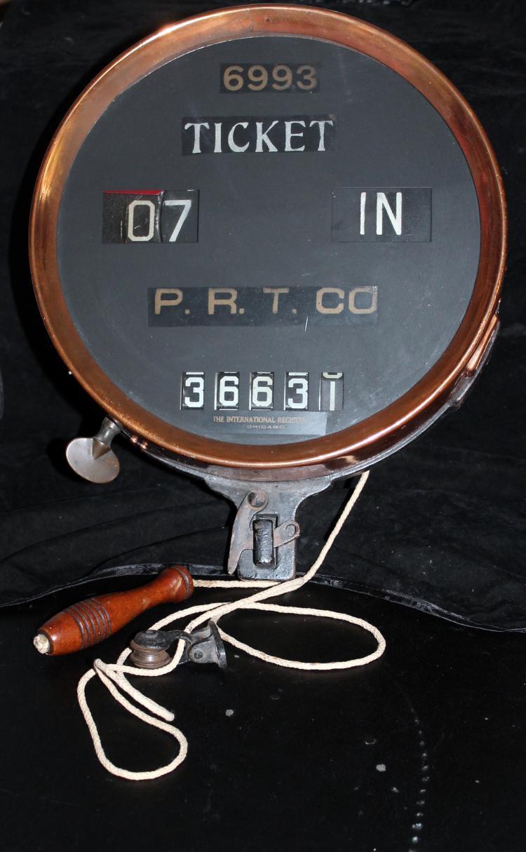 1920's P.R.T. Co (Pennsylvania Railroad Transit Co) Fare Recorder RARE