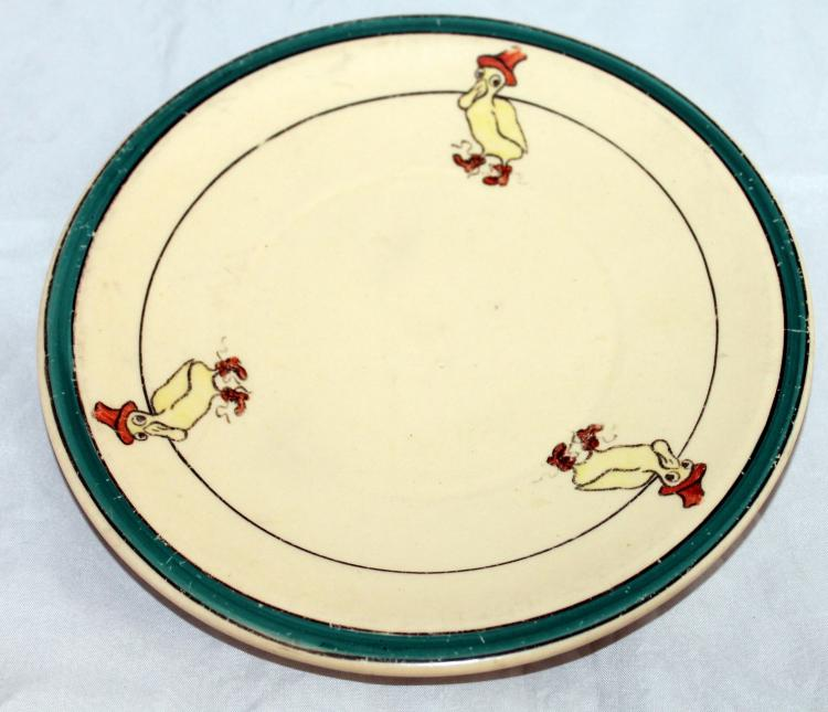 Roseville Pottery 8 Inch Juvenile Duck Plate USA