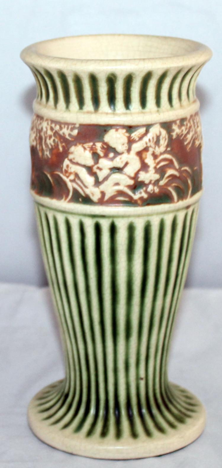 "Roseville Pottery Donatello Vase #104-8"" USA"