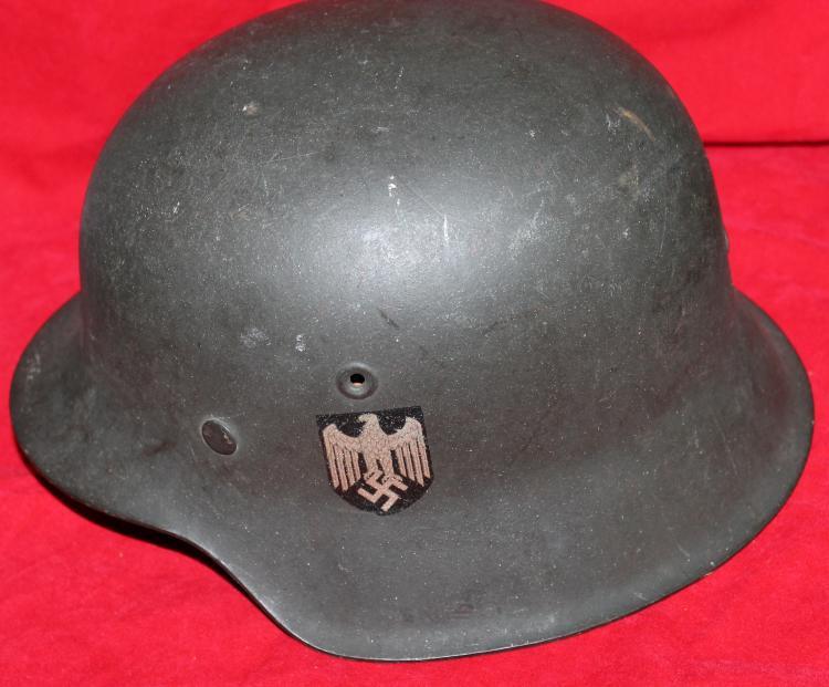 German Nazi World War II Infantry Helmet With liner