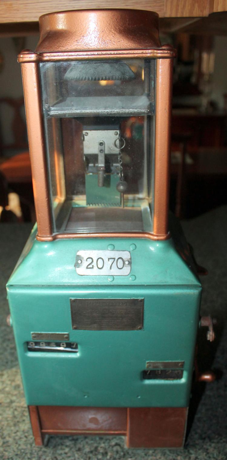 Fantastic 1920's Trolley Fare Box Johnson Fare Box Company