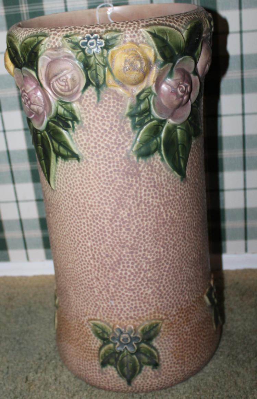 "Roseville Pottery Rozane Umbrella Stand #756-9-19"" USA"
