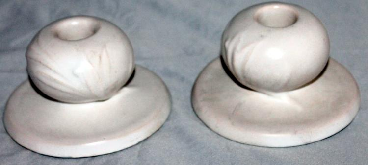 "Roseville Pottery Silhouette Candlesticks #751-3"" USA"