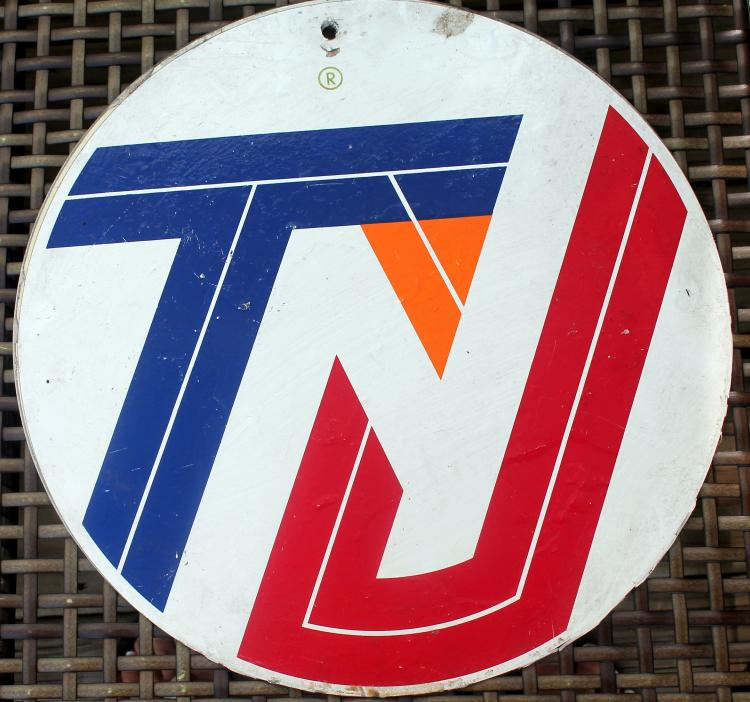 1970's Transit New Jersey Bus Sign