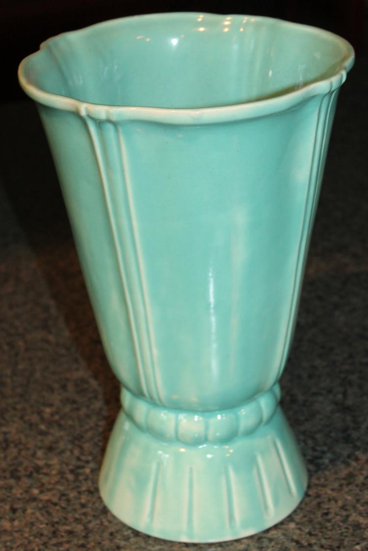 Stangl Pottery 11 1/2 Inch Tall Matt Green Vase
