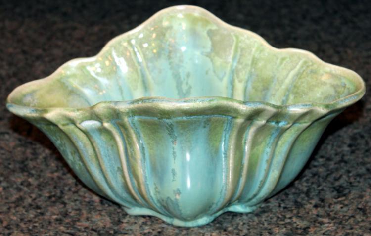 Fabulous Fulper Pottery 9 1/2 Inch Console Bowl