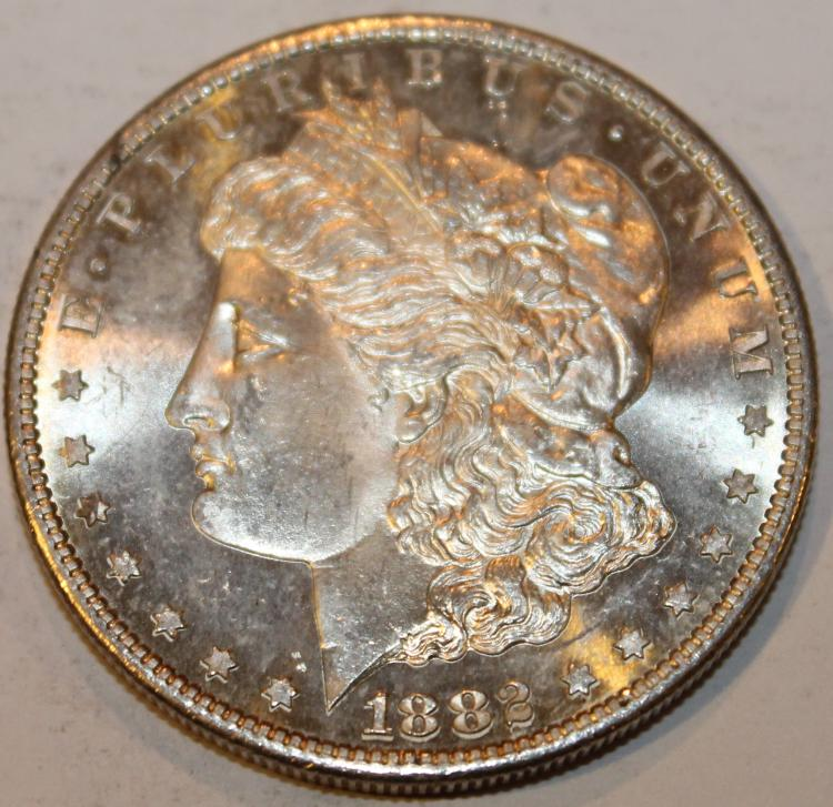 Note Change In Mint Mark 1882 S Morgan Silver Dollar