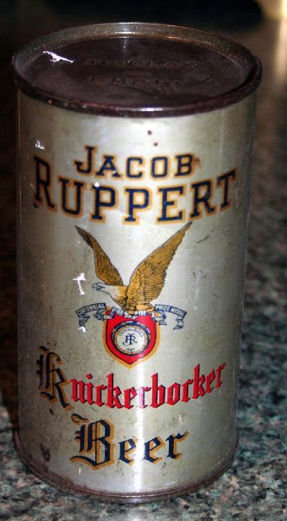 Rare Jack Ruppert Knickerbocker Beer Display Only Beer Can