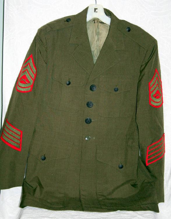 Operation Desert Storm U.S. Marine Gunnery Sergeant Wool Coat