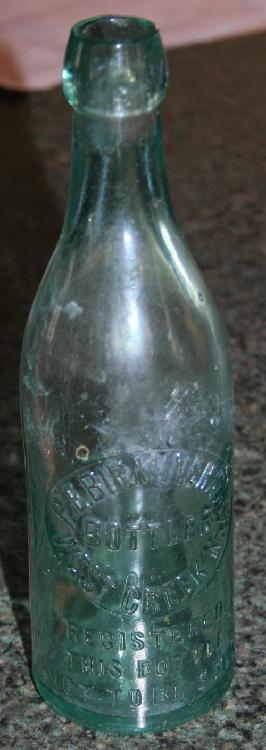 West Creek New Jersey Birmingham Soda Bottle