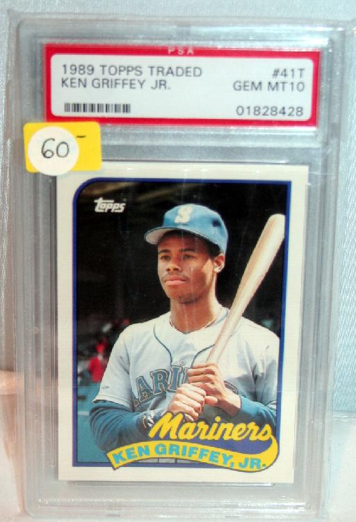 1989 Topps Traded Ken Griffey Jr. PSA Rated Gem Mint 10 Baseball Card