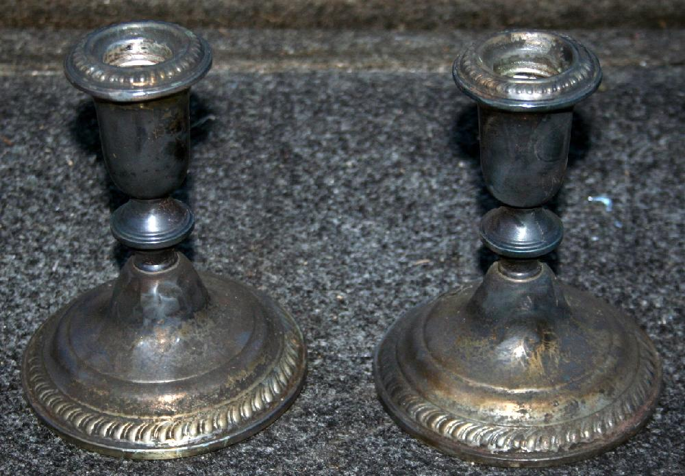 Set Of Empere Sterling Silver Weighted Candlesticks