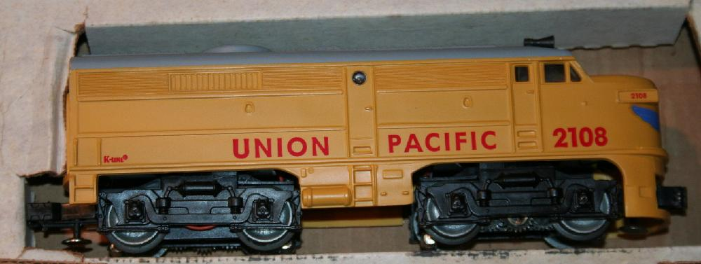 K-Line Union Pacific Alco A K-2108 Engine And Dummy A K-2109A Tandem