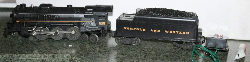 Lionel Trains Norfolk & Western 2-6-4 Steam Locomotive And Tender