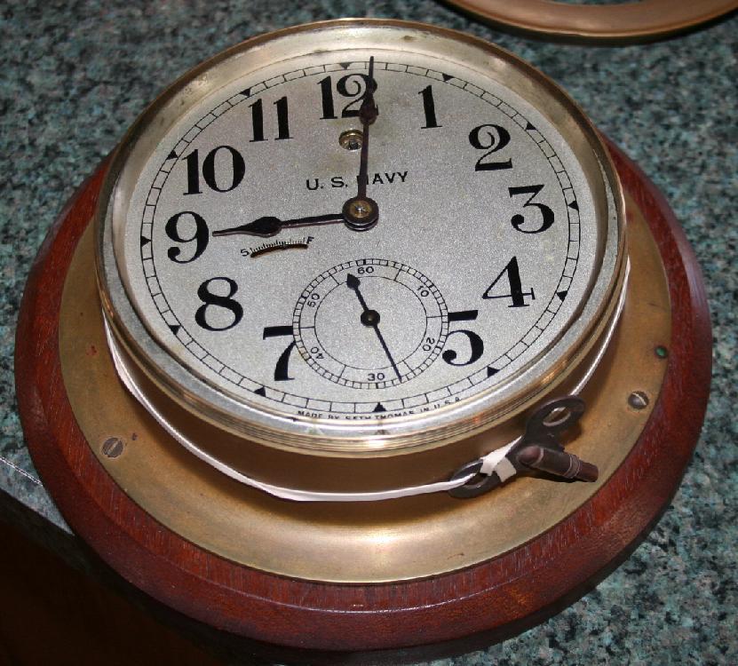 U.S. Navy World War II Seth Thomas Ships Clock