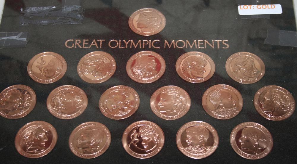 Bronze Olympic 17 Coin Set