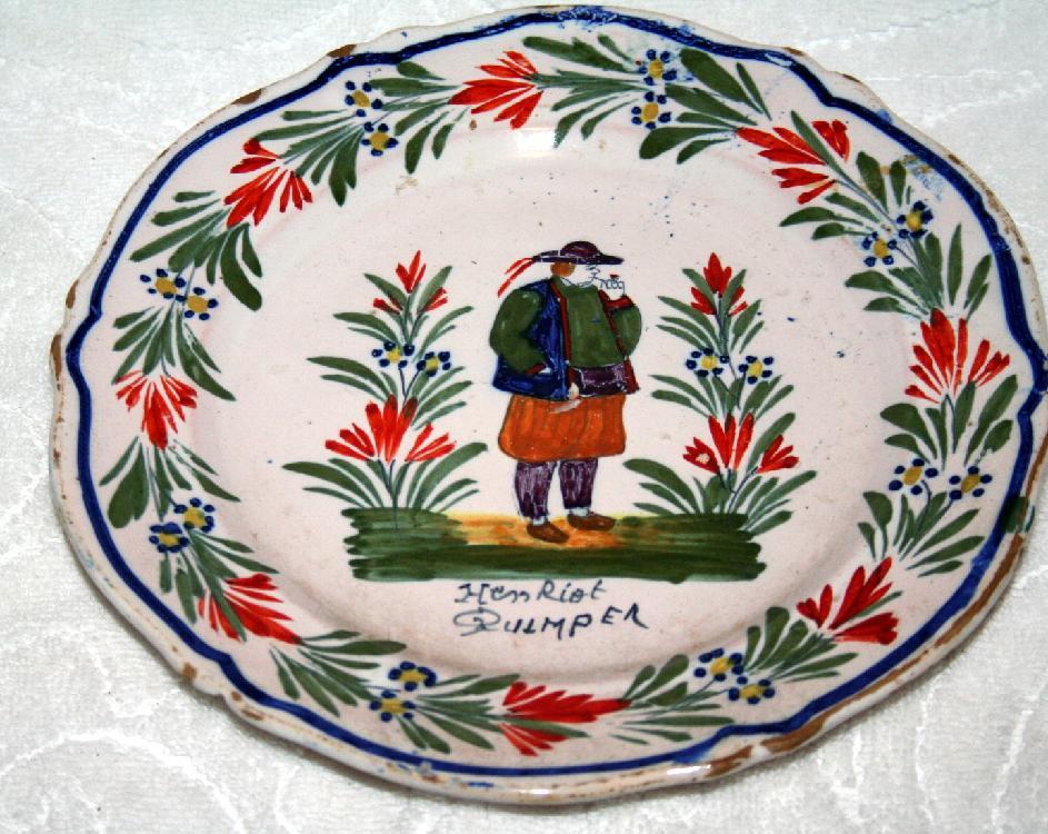 Original Henriot Quimper France Plate