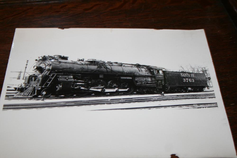 Santa Fe A.T. & S.F. 3763 Steam Locomotive Actual Photograph