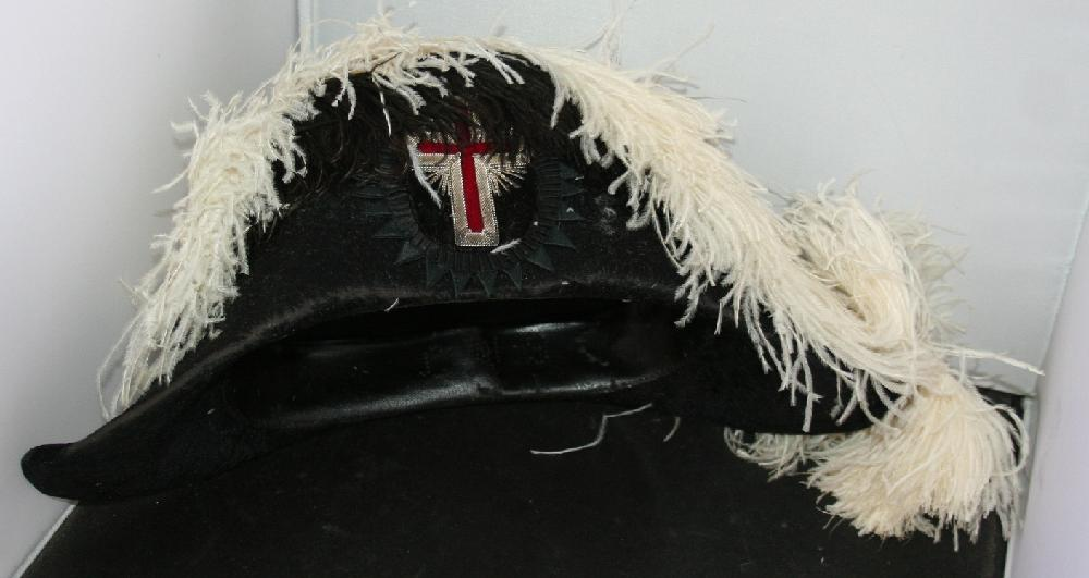 Jacob Reed's And Sons Knights Templar Formal Dress Hat c1890-1920