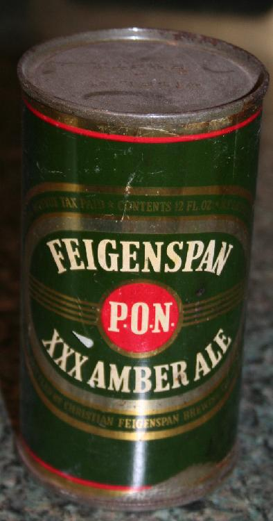 Vintage PON Feigenspan XXX Amber Ale Beer Can Display Only
