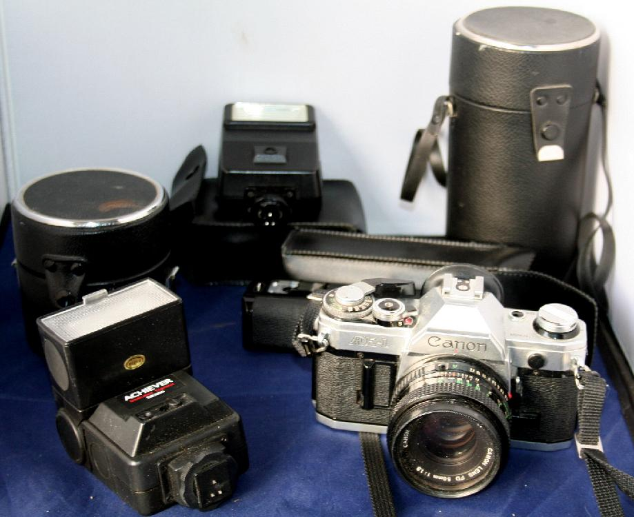 Canon AE-1 SLR Camera Outfit
