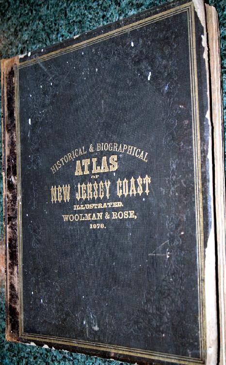 1878 Woolman & Rose Atlas Of The New Jersey Coast Illustrated