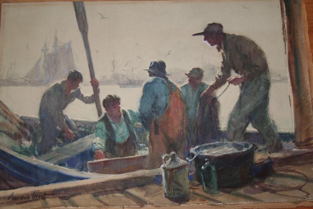 Original Watercolor By Gordon Grant (American, 1875-1962) Unframed