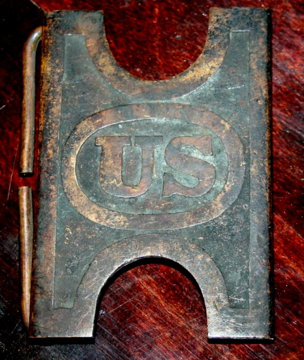 US Indian Wars Brass Belt Buckle