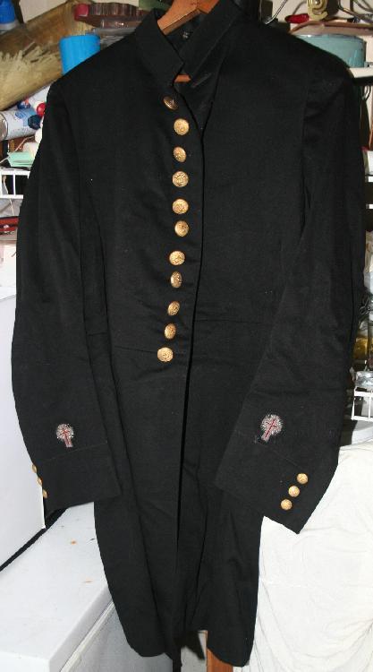 c1890-1920 Knights Templar Dress Overcoat from Holloway Estate Tuckerton NJ