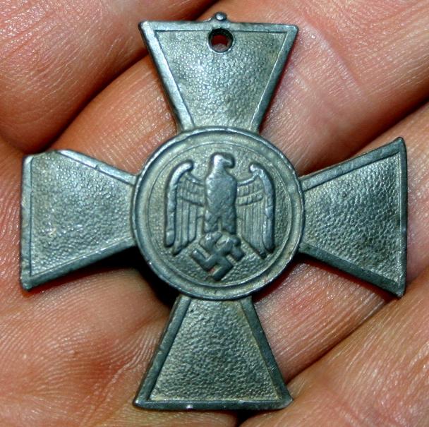 World War II Nazi 25 Years of Service Iron Cross