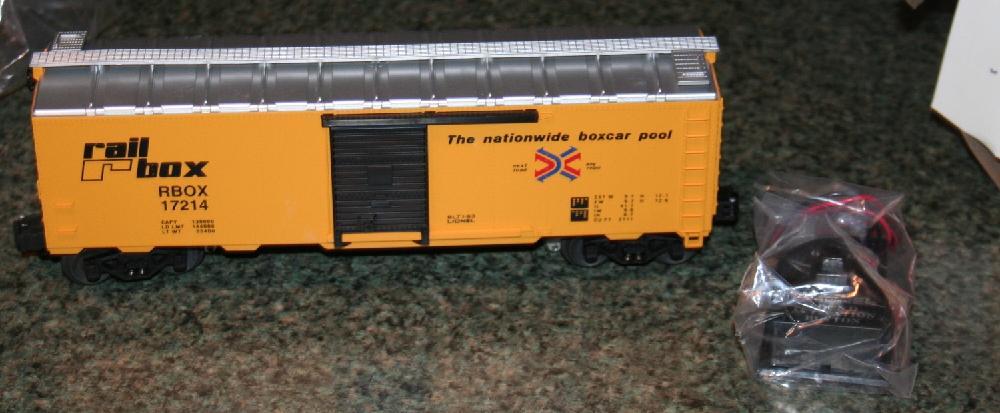 Lionel Trains Rail box Boxcar With Diesel Rail sounds #6-17214