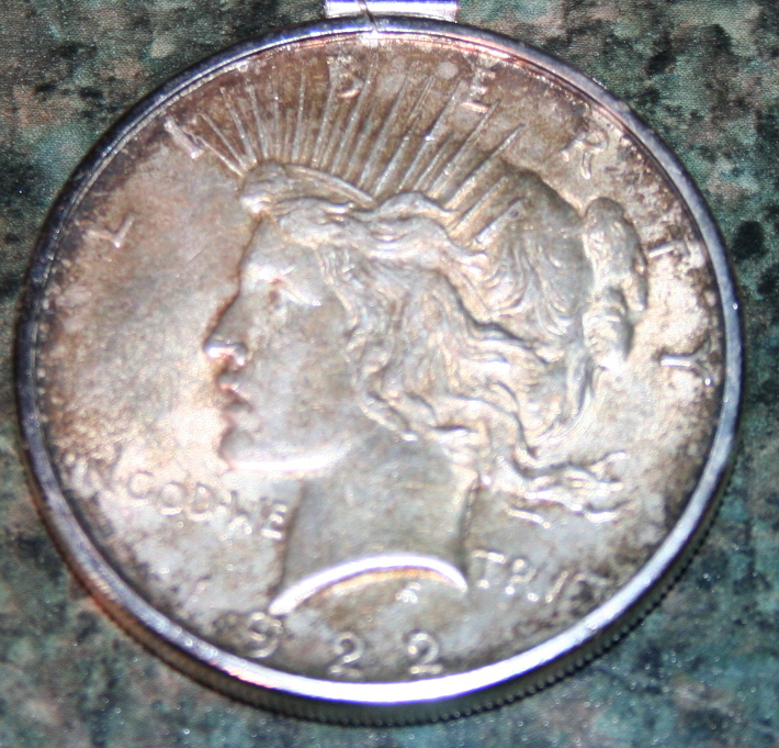 1922 Peace Silver Dollar Coin EF-40