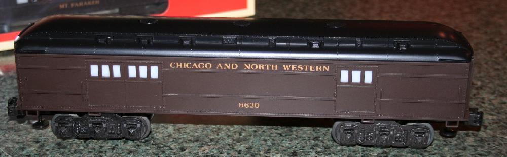 Lionel Trains Chicago & North Western Baggage Car #6-16050