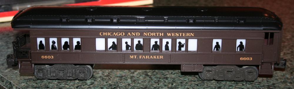 """Lionel Trains Chicago & North Western """"Mt. Faraker"""" Observation Car #6-16054"""