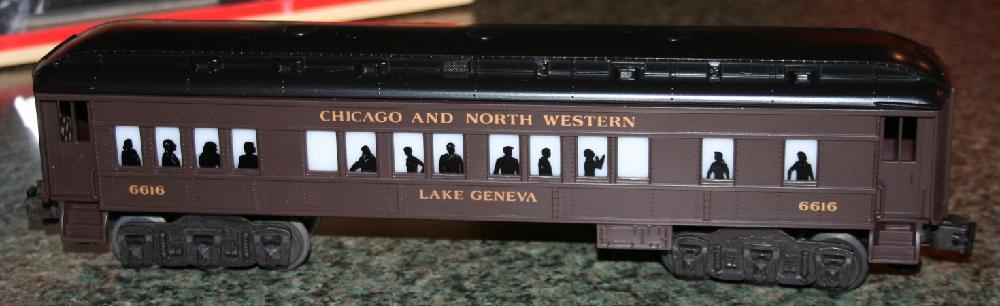"Lionel Trains Chicago & North Western ""Lake Geneva"" Pullman Car #6-16052"
