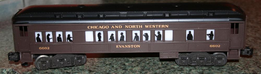 """Lionel Trains Chicago & North Western """"Evanston"""" Pullman Car #6-16053"""