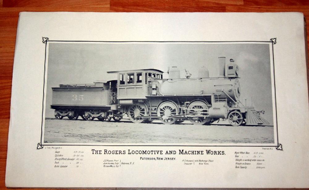 The Rogers Locomotive And Machine Works Train Print