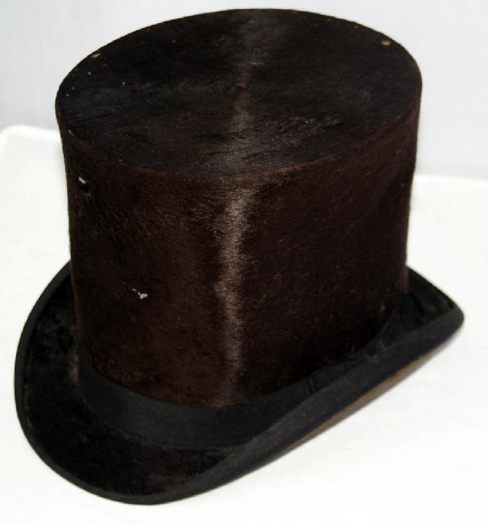 E.H. Parry Philadelphia PA Beaver skin Stovepipe Hat Tuckerton NJ c1860's