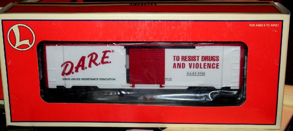 Lionel Trains D.A.R.E. Boxcar #6-26242