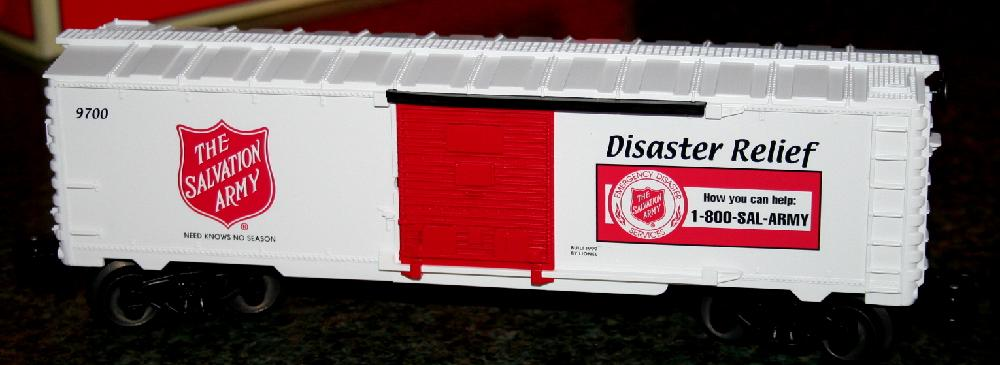 Lionel Trains Salvation Army Disaster Relief Boxcar#6-26256