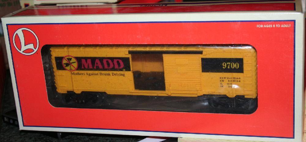 Lionel Trains M.A.D.D. Mothers Against Drunk Driving Boxcar #6-26239