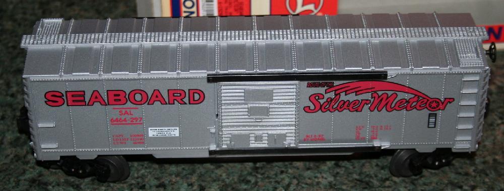 """Lionel Trains Seaboard """"Silver Meteor"""" Box Car"""