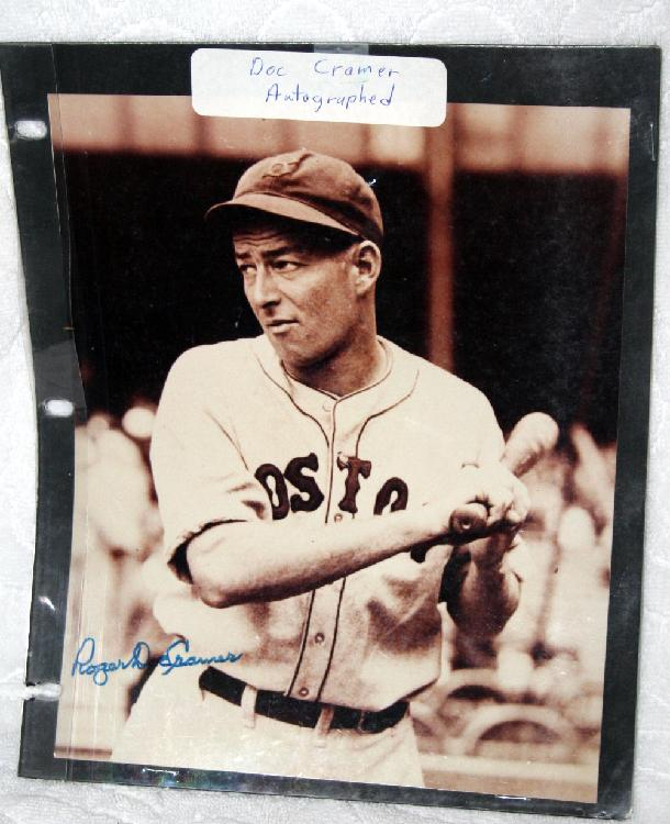 """Autographed With COA Roger """"Doc"""" Cramer 8 X 10 Inch Photograph"""